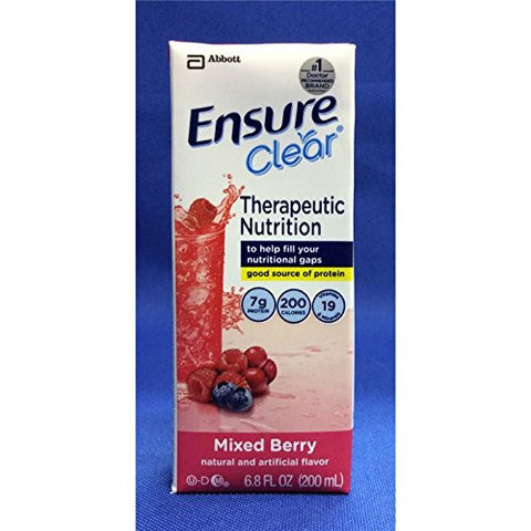 Ensure Clear Liquid, Mixed Berry, 6.7 Ounce Cartons (Case of 32)