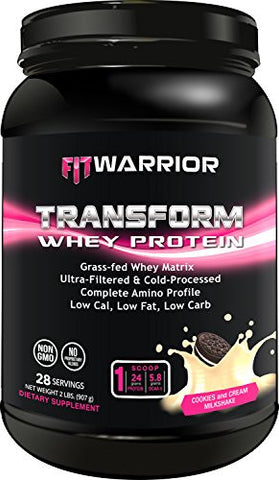 FIT WARRIOR TRANSFORM -- Whey Protein Cookies & Cream