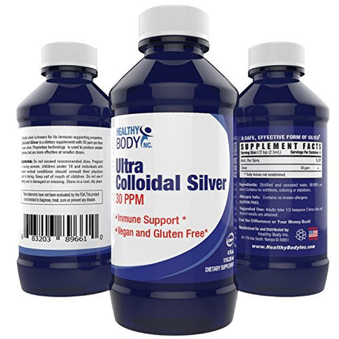 Colloidal Silver 30ppm - Purest Colloidal Silver on the Market Be ready for the cold season with Colloidal Silver- Vegan and Gluten Free (4oz. bottle 118ml)