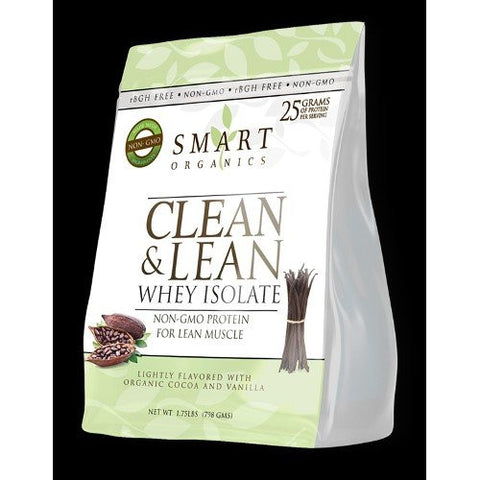 Smart Organics Clean & Lean Whey Isolate 1.75 Pounds