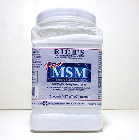 Richu0027s MSM Powder (2 Lb   1 Pack)