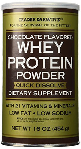 Trader Darwin's Whey Protein Power Dietary Supplement, 16oz (454g) (Chocolate)