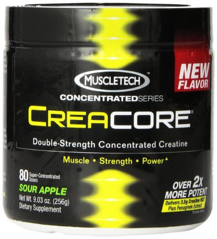 MuscleTech Creacore, Concentrated Creatine HCL Powder, Sour Apple, 80 servings, 9.03 oz (256g)