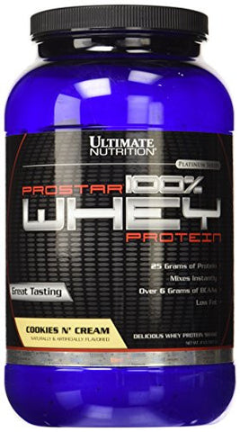 Ultimate Nutrition Prostar Whey, Cookies & Cream, 2-Pound Tub