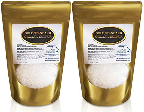 Gold Standard Organic Sulfur Crystals 2lb   99.9% Pure MSM   Largest  Granular Flakes Available
