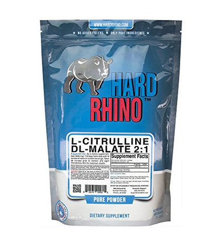 Hard Rhino L-Citrulline DL-Malate 2:1 Powder, 500 Grams (