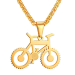 The Bicycle gold plated necklace