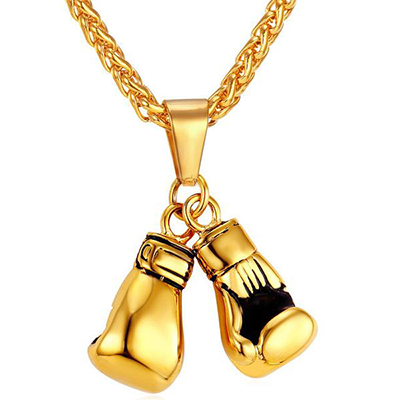 The Boxing Gloves gold Necklace