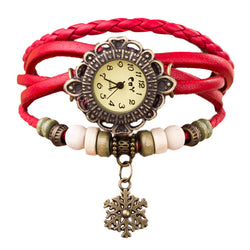 """Snowflake"" Pendant Bracelet-Watch, 5 Different Colors!"