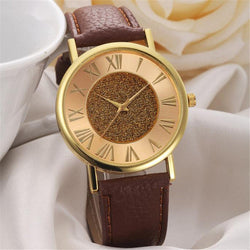 High Quality Glitter Leather Band Watch, 3 Different Colors!