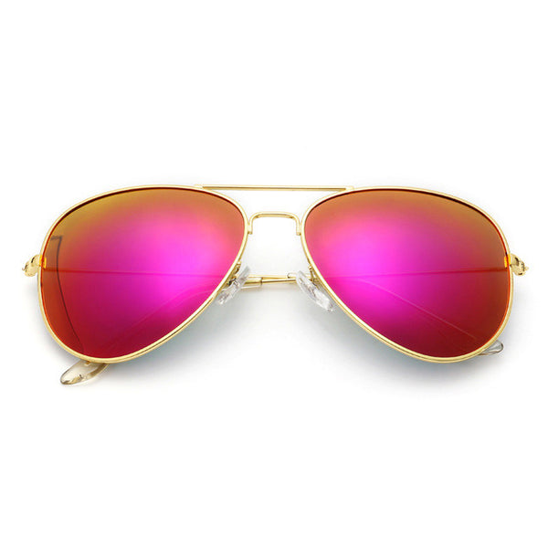 Luxury Vintage Aviator Mirror Sunglasses, 11 Different Colors!
