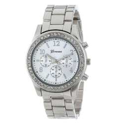 Geneva Bracelet Band Crystal Wrist Watch, 3 Different Colors!