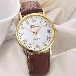 Casual Geneva Roman Numeral Wrist Watch, 3 Different Colors!