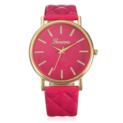 Stylish Geneva Roman Numerals Leather Band Watch, 7 Different Colors!