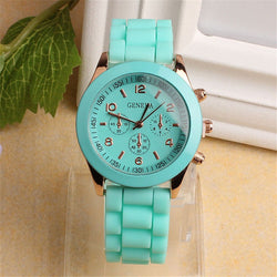 Geneva Unisex Sports Silicone Band Wrist Watch, 6 Different Colors!
