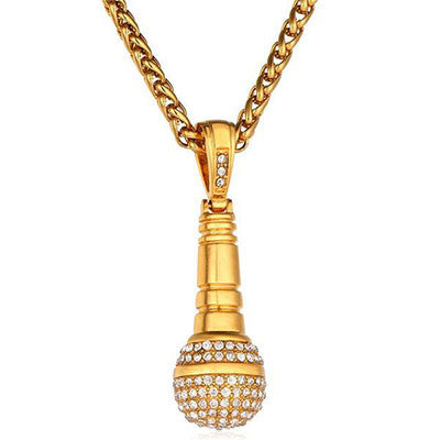The Microphone Gold Plated Necklace
