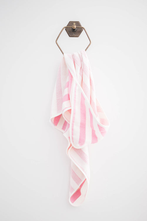 MALIBU HOODED TOWEL - PINK