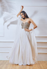 White Tube Anarkali