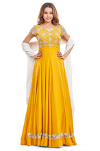 Nidhi Bhansali - Golden Yellow Anarkali Set