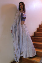 Lilac Lehenga and Blouse Set