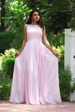 Pink Pleated Gown