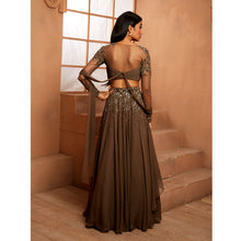 Military Green Embellished Lehenga Set