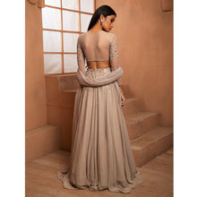 Grey Embellished Blouse W/ Embellished Lehenga Set