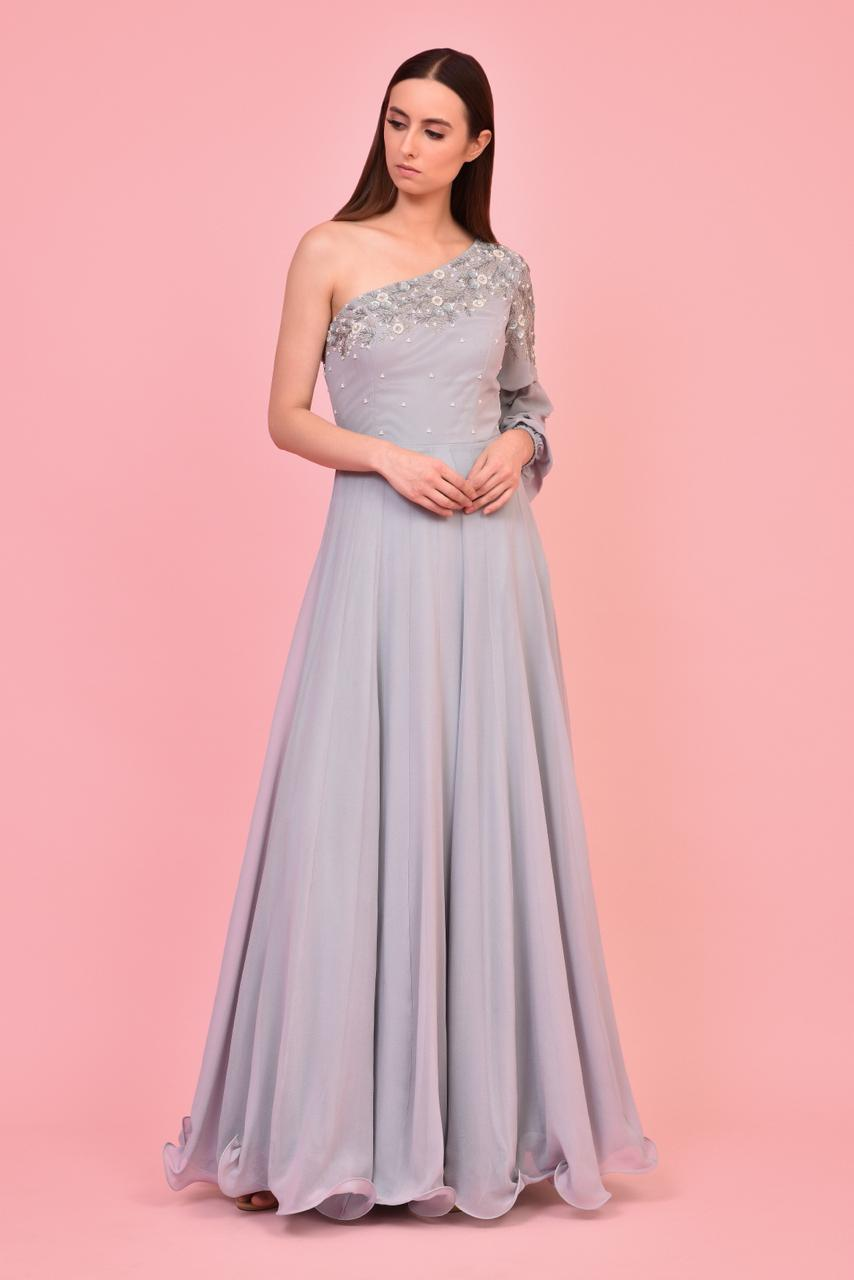 Stone Blue Gown