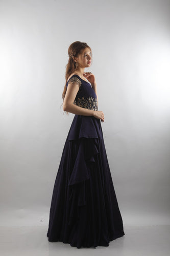 Kaanish Couture - Navy Blue Gown