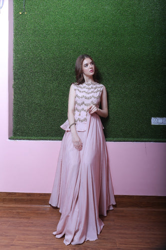 Kaanish Couture - Pink Cut Gown
