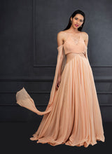 Peach Cut Out Gown