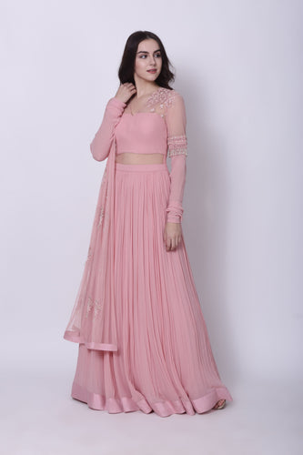 Pink Embroidered Anarkali