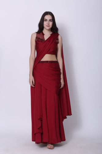 Draped Lehenga Saree
