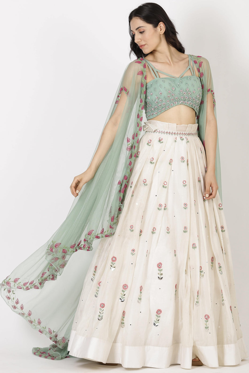 Sea Green Lehenga Set