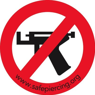 No Ear Piercing Guns