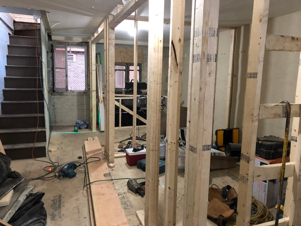 Buildout at 807 N. Howard Street Baltimore