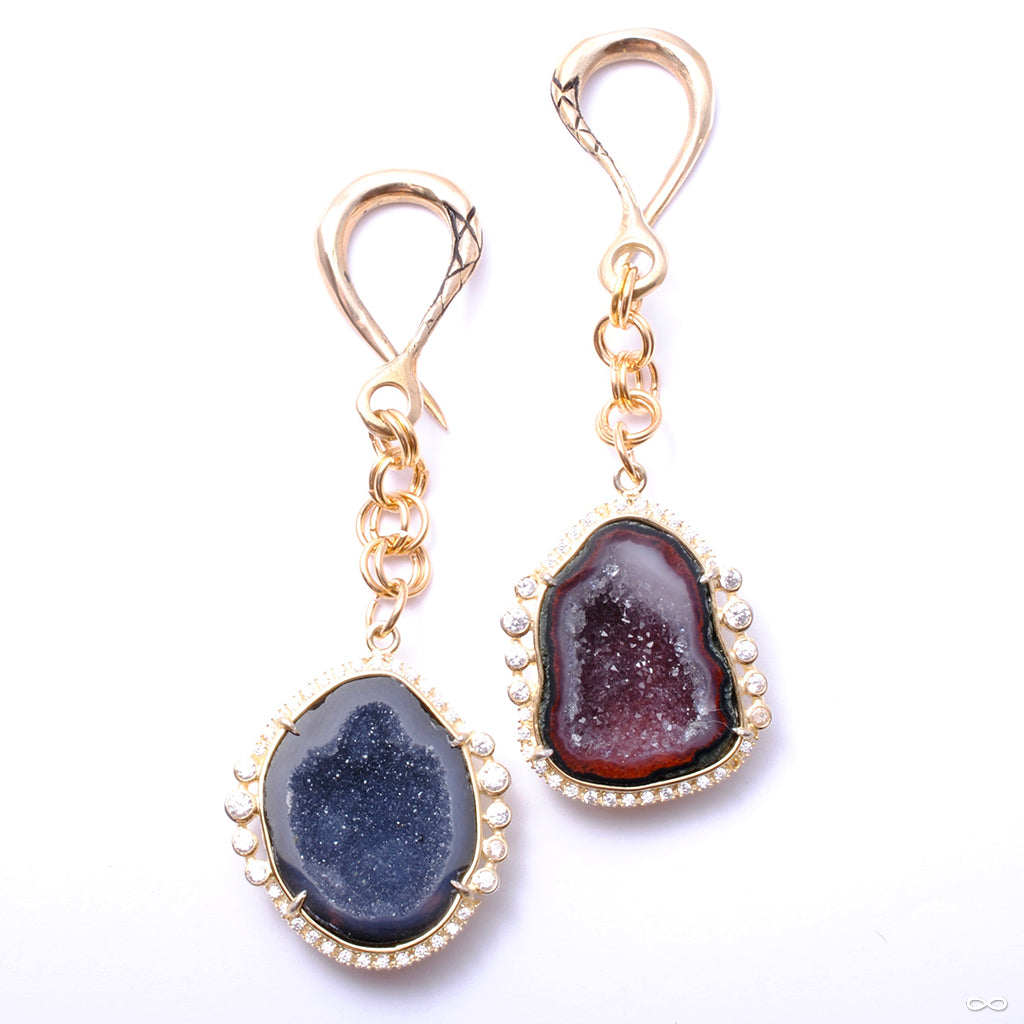 CZ Lined Black Druzy Weights from Oracle