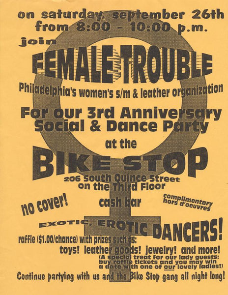 Female Trouble Philadelphia flyer