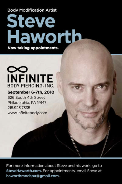 Steve Haworth at Infinite Body Piercing