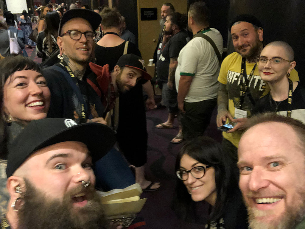 Infinite Body Piercing crew at APP 2019