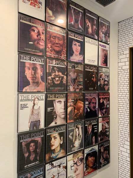 The Point wall at Infinite Body Piercing