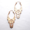 Transformer Earrings from Tawapa in Rose-gold-plated Brass