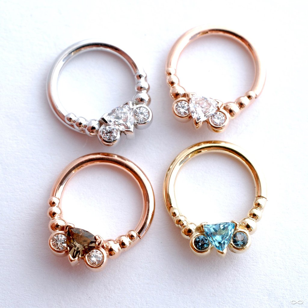 Kalisi Seam Ring in Gold from BVLA with Clear CZ