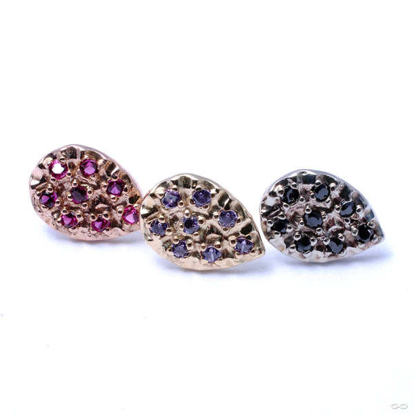 8 Stone Pear Press-fit End in Gold from LeRoi in assorted colors
