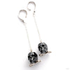 Crystal Skull Weights from Phoenix Revival Jewelry in Jet Black