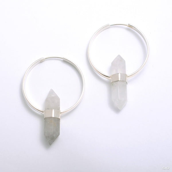 Mini Alchemy Earrings in Silver with Smoky Quartz from Buddha Jewelry