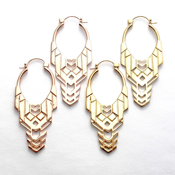 Transformer Earrings from Tawapa in Assorted Metals