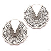 Reyes Earrings from Maya Jewelry in White Brass