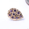 8 Stone Pear Press-fit End in Gold from LeRoi in Amethyst
