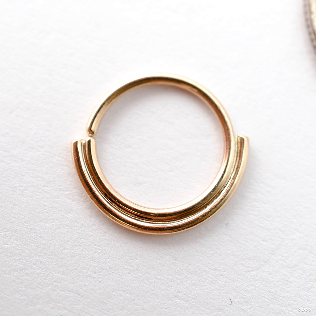 2 Bar Seam Ring In Gold From Sacred Symbols